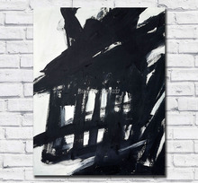 Abstract Hand Painted Canvas Painting Franz Kline Oil Wall Art for Home Decor Living Room No Frames