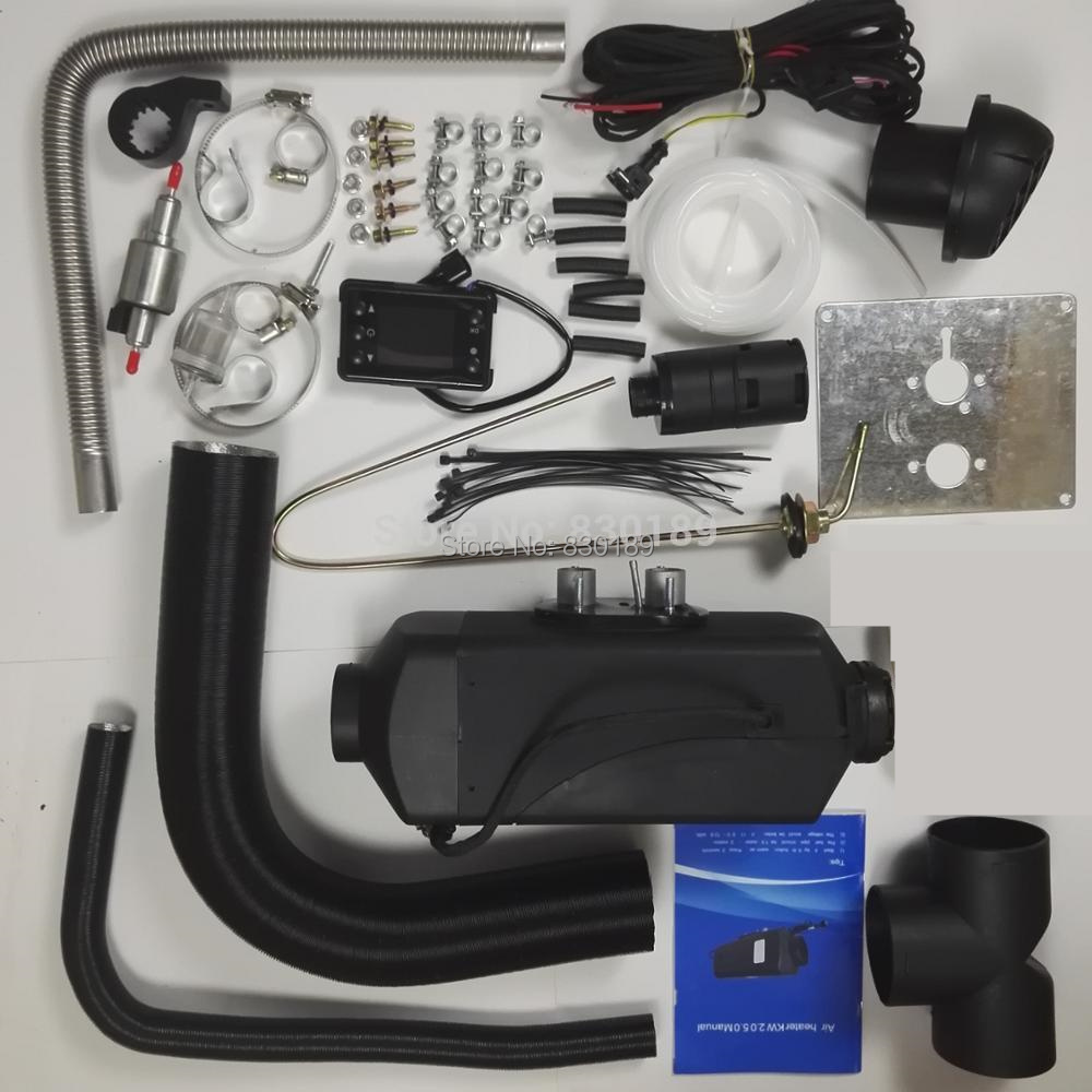 (Gratis por expreso) -5KW 12 V calentador de aire diesel para camión barco Van RV-para reemplazar centralitas D4... webasto calentador de diesel creencia calentador