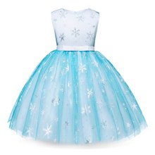 AmzBarley Girls Elsa Anna Princess Dress SleevelessLace Lace Snowflake Sequins Cosplay Birthday Up Party Costume Dresses