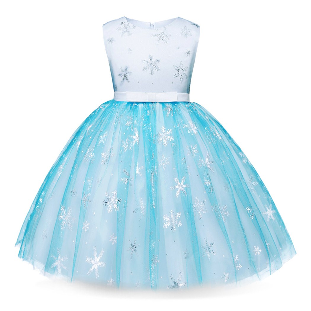 AmzBarley Girls Princess Elsa Anna Sleeveless Dress Cosplay Halloween Christmas Party Teens Fancy Costume