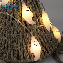 Little Ghost 20 LED Fairy String Light Halloween Christmas Party Decoration Lighting Nightlight For AA battery S1(China)
