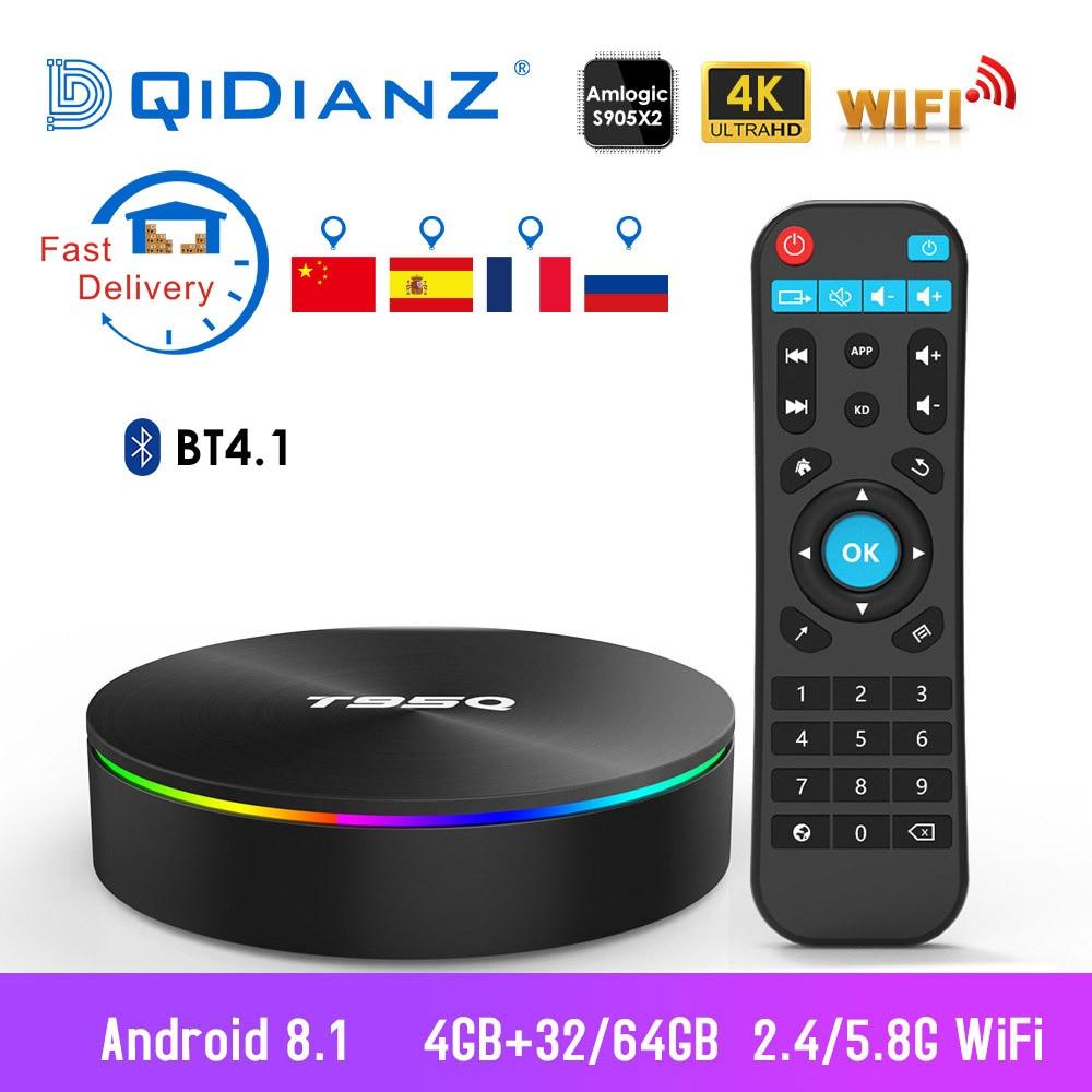 MX9 Pro Smart TV Box 4G+32G RK3328 Android 7.1 Quad Core WiFi 3D 4K Media Player