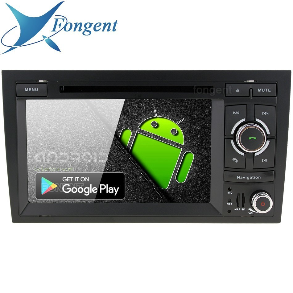 Android 9.0 For <font><b>Audi</b></font> <font><b>A4</b></font> <font><b>2002</b></font> 2003 2004 2005 2006 2007 Car S4 RS4 8E 8F B9 B7 RNS-E Radio Headunit Stereo Multimedia DVD Player image