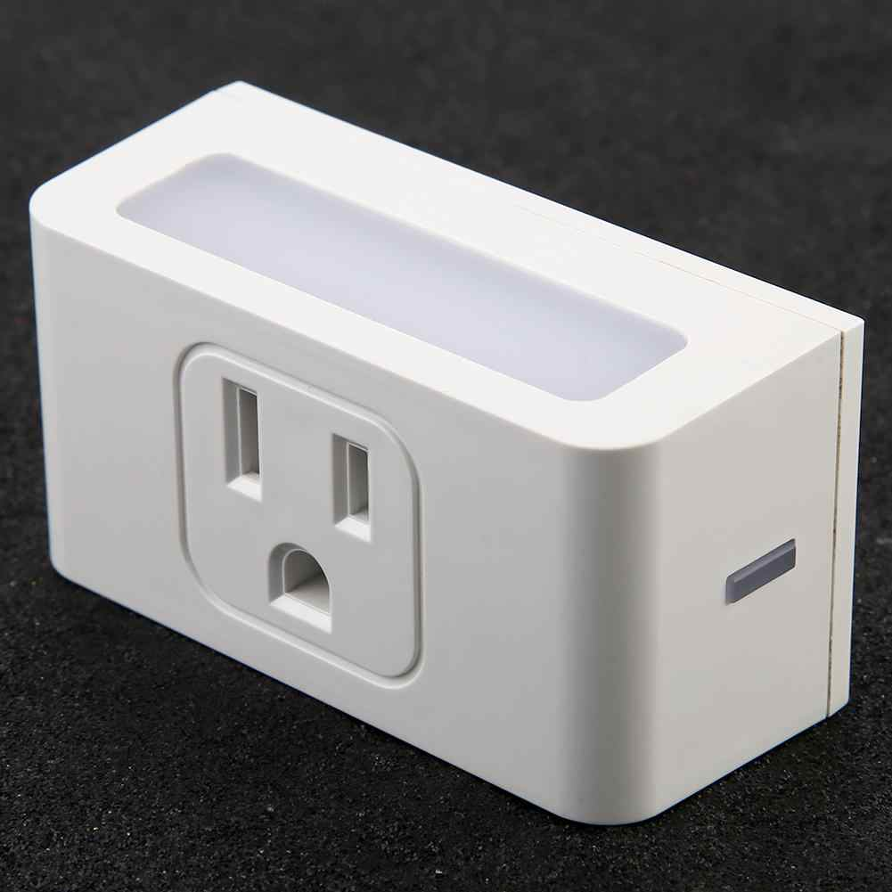US wtyczka inteligentne gniazdo WiFi inteligentne gniazdko za pomocą, noc, lekki obsługuje sterowanie głosowe 100 ~ 240 V gorąca