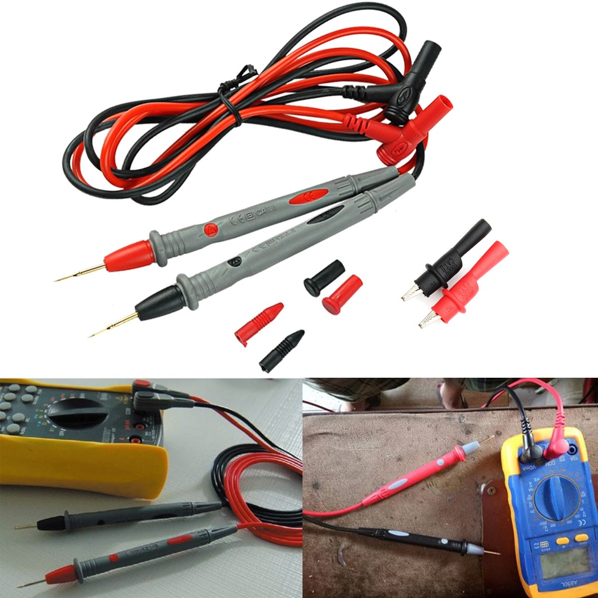 Image 3 - 20A Probe Test Lead+Alloy Clips Clamp Cable Wire Test For Multi Meter Tester Digital Multimeter 2019 New Arrival-in Multimeters from Tools