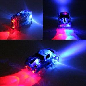 Image 4 - Magische Track Autos LED Licht Elektronik Auto Tracks Spielzeug Autos Teile Auto Schiene Rennstrecke kinder Spielzeug Für Jungen geburtstag Geschenke