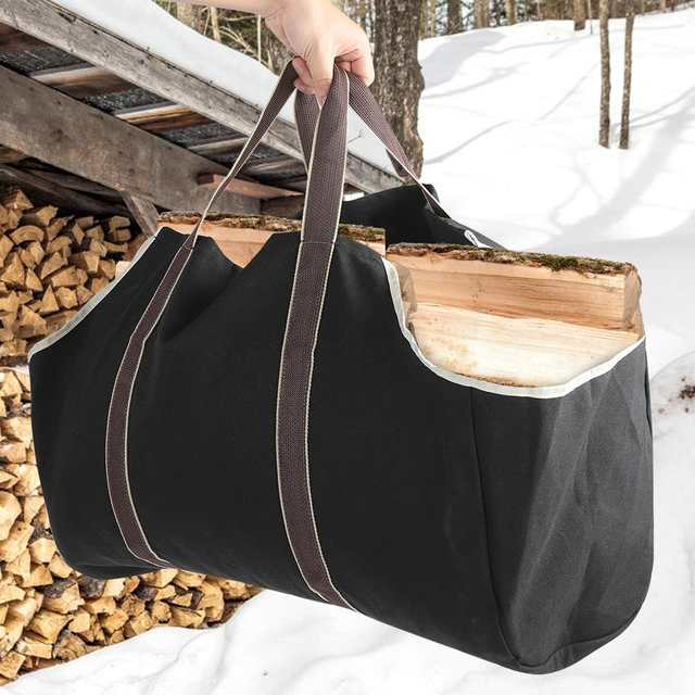 Us 13 46 32 Off Large Capacity Wood Log Carrying Bag Outdoor Firewood Carrier Holder Farmer Storage On Aliexpress