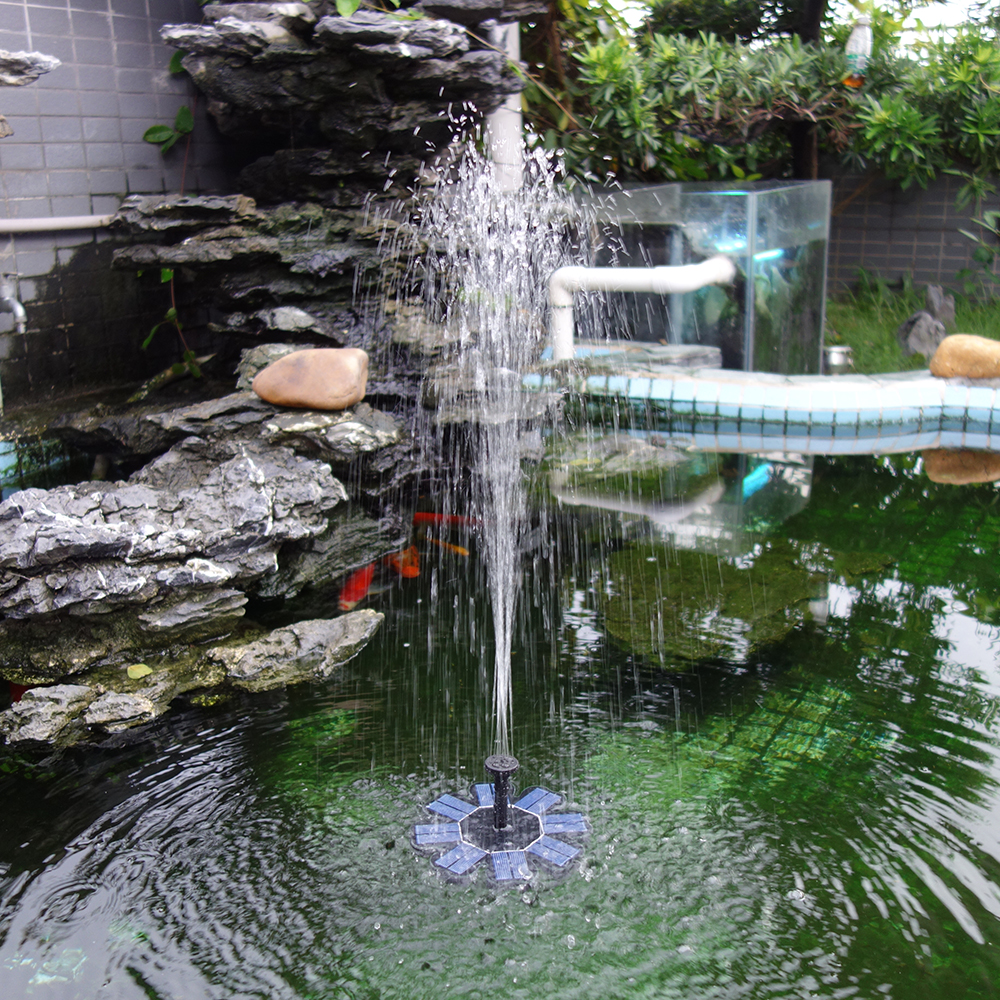 Maxim Solar Solar Fountain Water Pump Battery Backup 1.5W Bird Bath Fish Garden