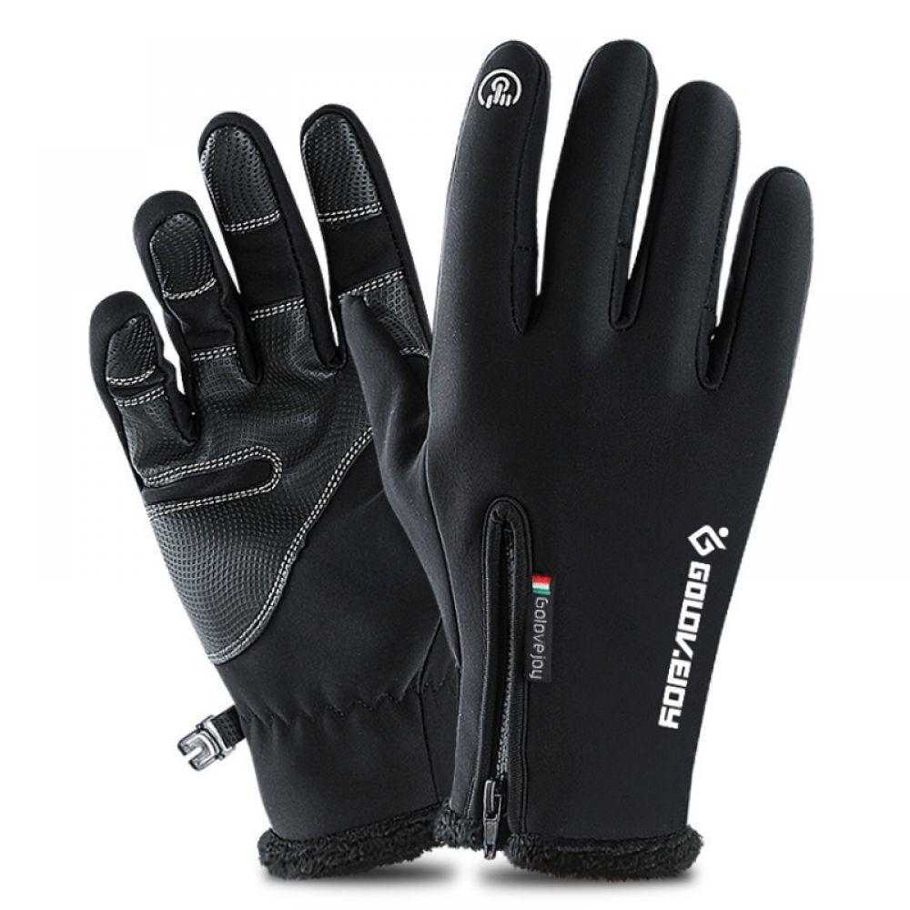 Efficient Touch Screen Gloves Winter Fleece Windproof Snowboard Ski Gloves Warm Motorcycle Skiing Gloves Adult Kids Outdoor Sportswear