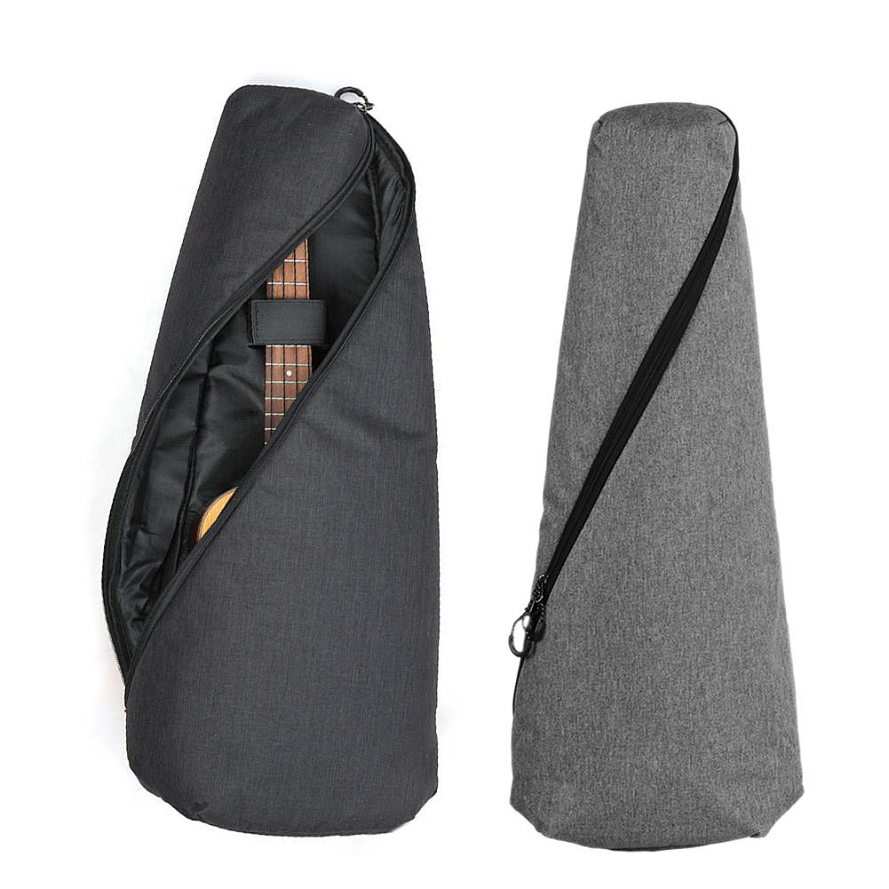 ADDFOO Portable Cotton Nylon Padded Bass Guitar Gig Bag Soprano Ukulele Case Box Guitarra Cover Backpack With Double Strap
