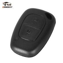 Dandkey 10 шт. 2 кнопки пульт дистанционного ключа оболочки для Renault Trafic Vauxhall Opel Master Vivaro Nissan Primastar Брелок чехол без лезвия