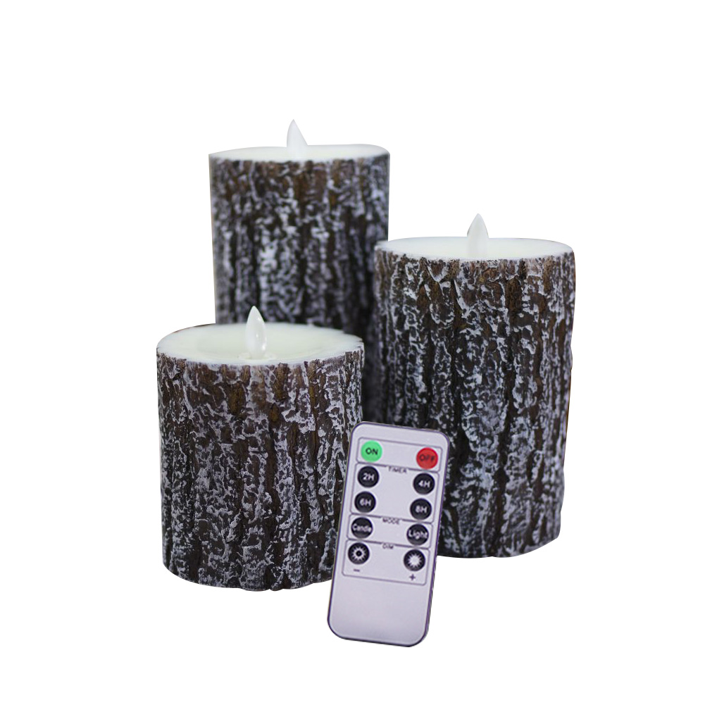Candle LED Smokeless Tree Electronic Tealights Easter Party Remote Battery Powered