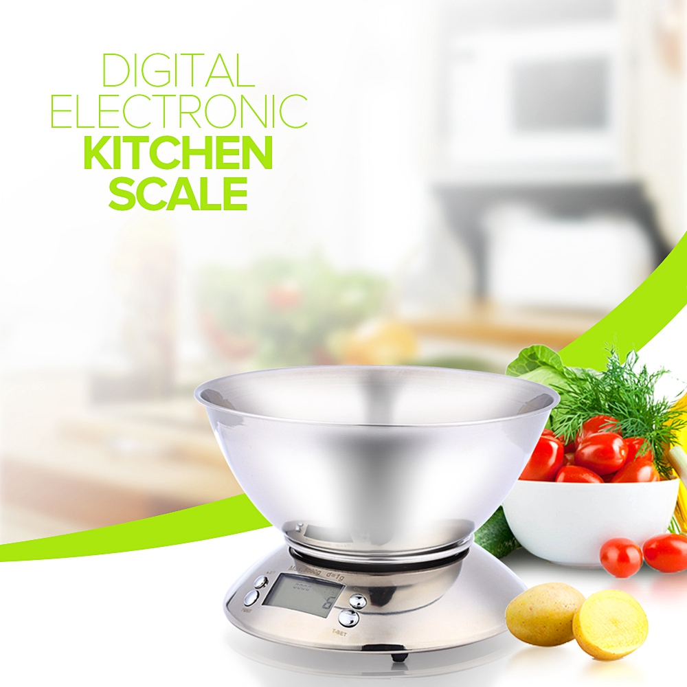 Best Deal 4dd39 Stainless Steel Kitchen Scale 5kg 1g Electronic