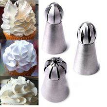 1pc Stainless Steel Dessert Decorators Icing Piping Cream Pastry tool Metal Piping Icing Nozzle for Cream Pastry Decorating Tool(China)
