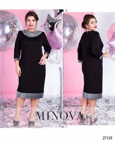 2019 Elegant Party Dress Women Summer Dress Plus Size Sequin Bodycon Dress Midi Office Black Dress Large 5XL 6XL Robe Femme