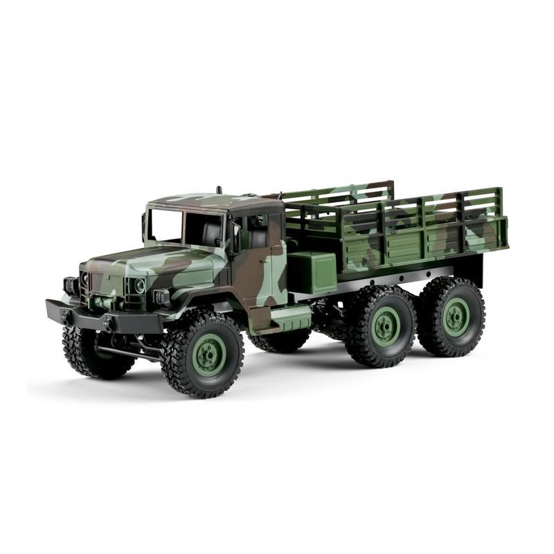 Caliente WPL nuevo 1:16 WPL tracción de seis ruedas escalada fuera de carretera camuflaje coche de juguete de Control remoto Auto ejército camiones para los niños-in Coches RC from Juguetes y pasatiempos    3