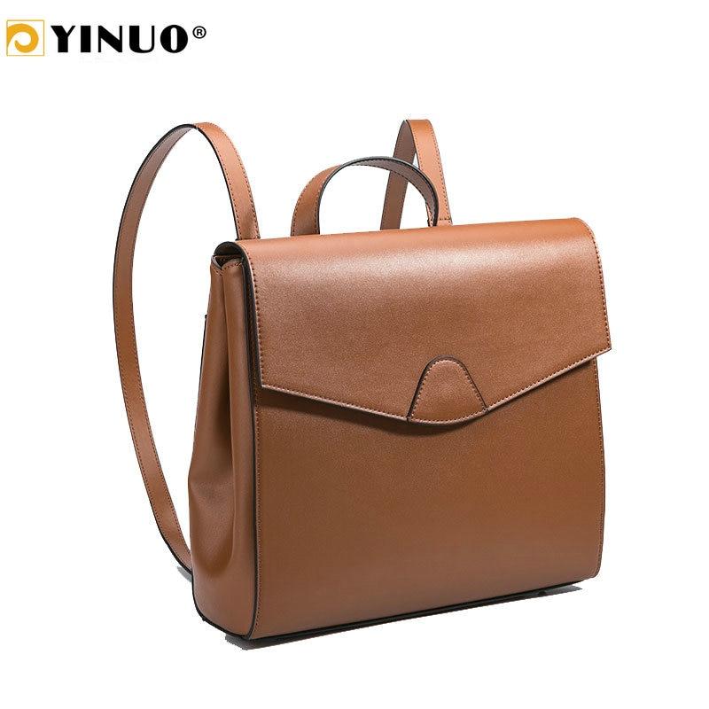 YINUO Women Leather Bag For 13inch Laptop Bag Light Retro Fashion