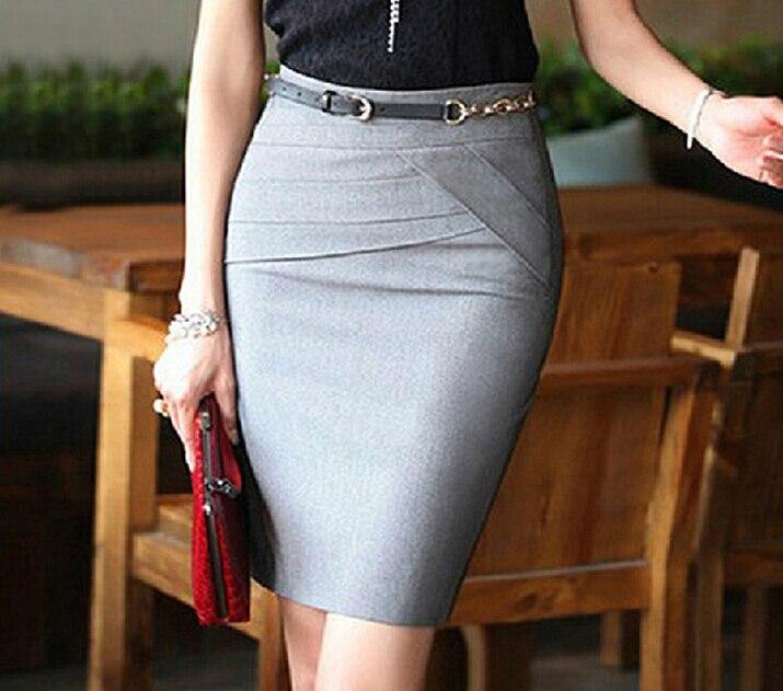 dfc787ca326 New 2019 Skirts Womens Pencil Skirt Vintage Skirts Female High Waist Long  Work Skirt Package Hip Skirts for Woman Black