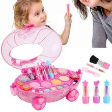 Disney Princess Makeup Set Fashion Car Toy Water Soluble Beauty Girls Toys Pretend Play For Kids Girl Christmas Birthday Gift