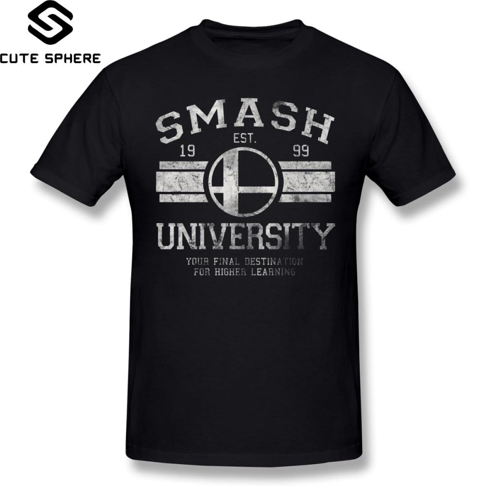 Super Smash Bros T Shirt Smash University V2 T-Shirt Mens Awesome Tee Shirt 100 Cotton Beach Oversized Graphic Tshirt