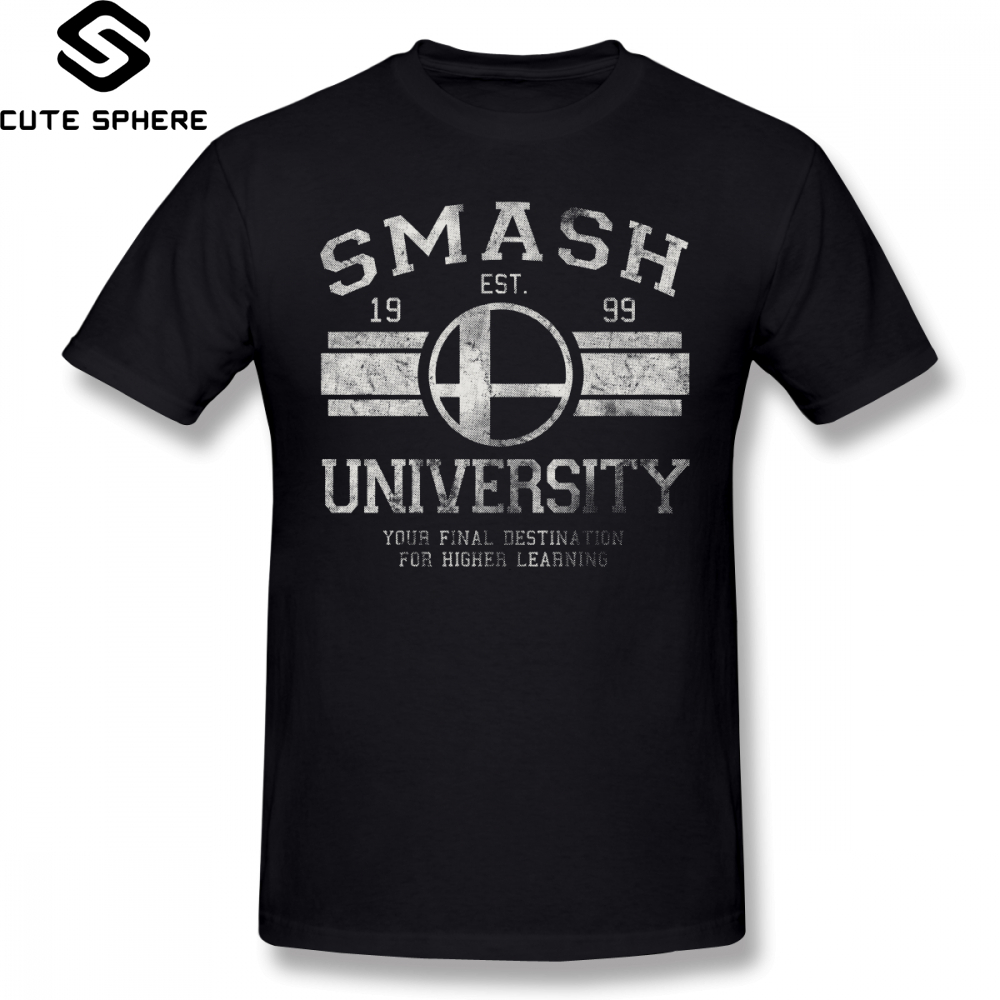b80d4c50f Detail Feedback Questions about Super Smash Bros T Shirt Smash University  V2 T Shirt Mens Awesome Tee Shirt 100 Cotton Beach Oversized Graphic Tshirt  on ...