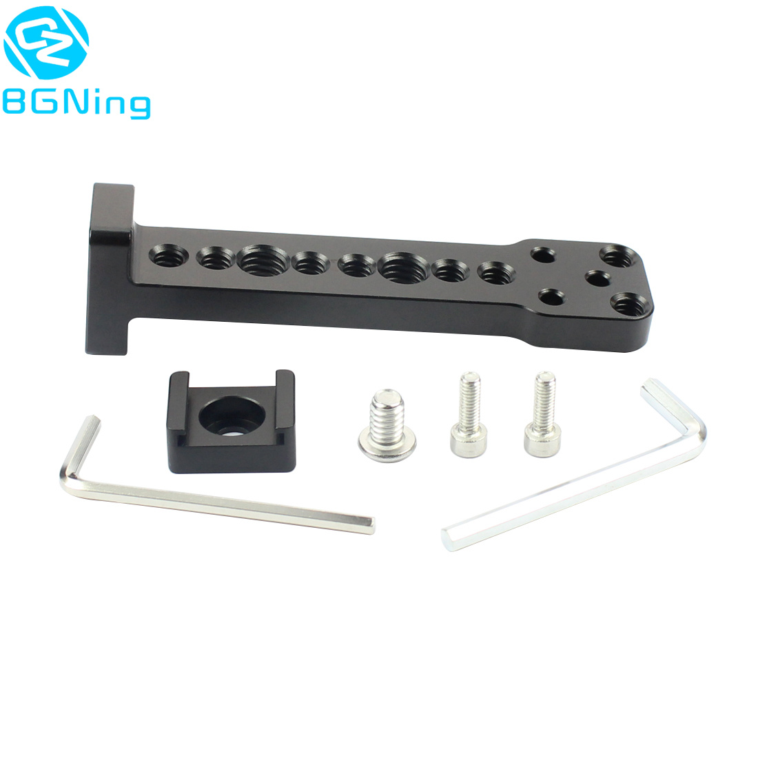 Aluminium External Extension Mounting Plate Bracket Quick Release For Mic Monitor Arm Adapter For DJI Ronin S Handheld Gimbal