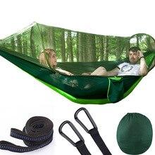 Hamaca de apertura rápida automática para acampar al aire libre, red antimosquitos, defensa Hamak, columpio, 2 personas