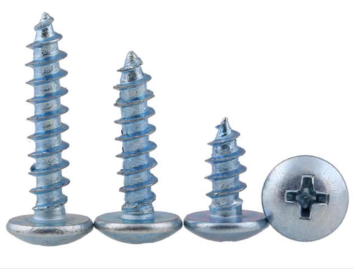 100pcs <font><b>M2</b></font> <font><b>M2</b></font>.5 5/6/8/10mm Phillips Pan Head <font><b>Tapping</b></font> Drilling Screws Zine Plated image