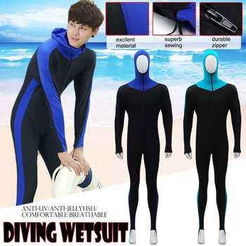 2f0ad94a5 Cuerpo Completo traje de buceo de capucha de traje de buceo natación surf  protección UV buceo pesca submarina traje de neopreno