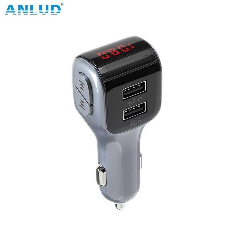 ANLUD MP3 Jogador Bluetooth 5.0 Kit Mãos Livres Bluetooth Carro Transmissor FM Carregador Dual USB U Jogo Disco Acessórios do Carro Modulador