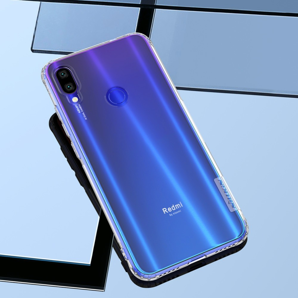 TPU Case For Xiaomi Redmi Note 7 NILLKIN Nature Transparent Silicone Soft Back Cover Xiaomi Redmi Note 7 Pro Case(China)