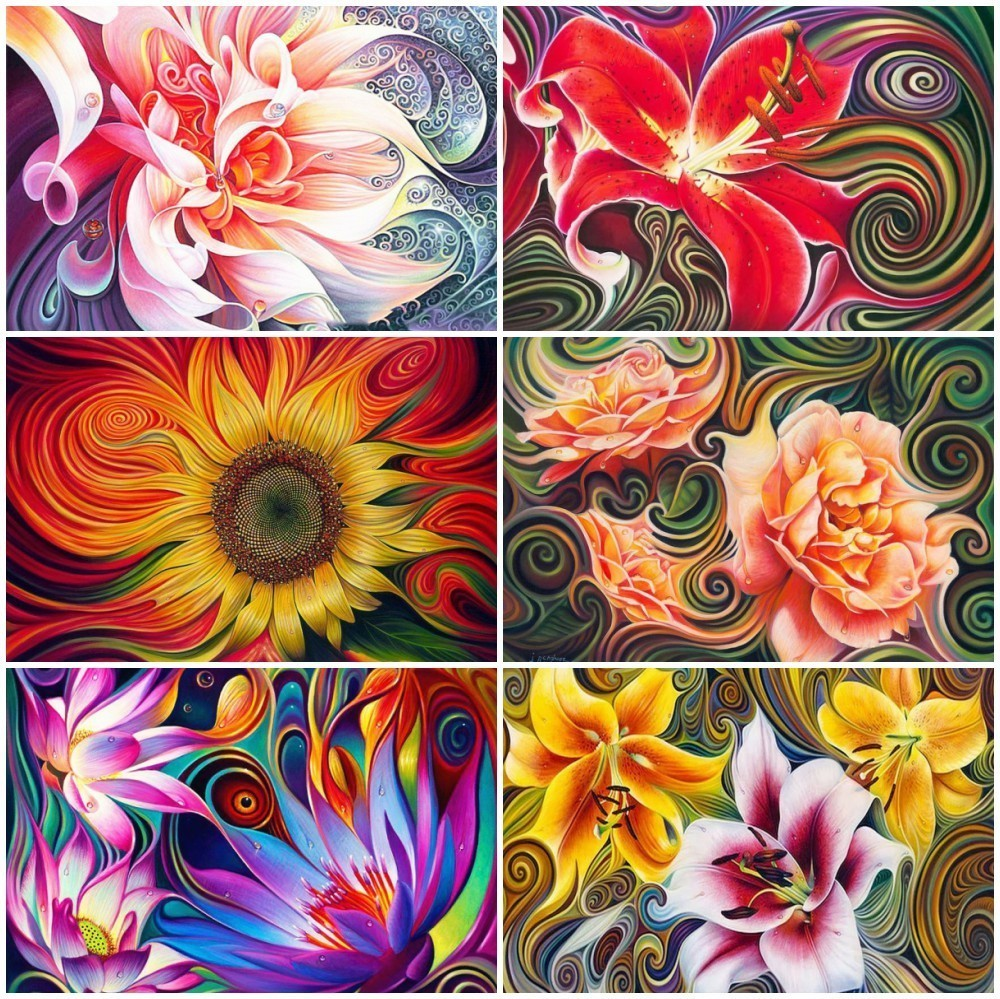 HUACAN Diamond Embroidery Full Display Flowers Pictures Of Rhinestones Diamond Painting Floral Beadwork Decoration Maison Sale HUACAN Diamond Embroidery Full Display Flowers Pictures Of Rhinestones Diamond Painting Floral Beadwork Decoration Maison Sale
