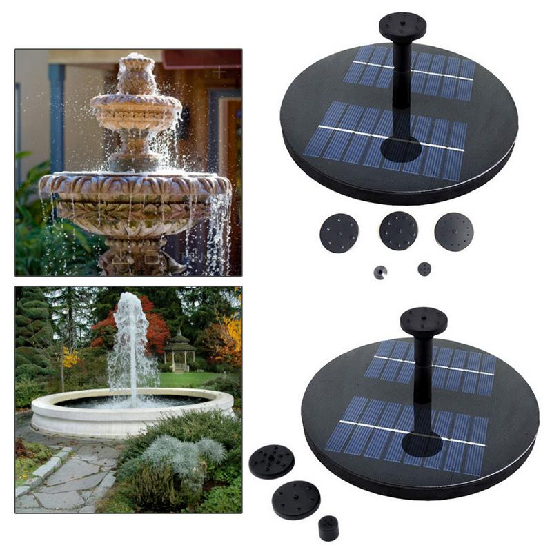 Solar Fountain Floating Outdoor Garden Pond Water Fountain Pump Gardening Pond Bird Bath Without Battery