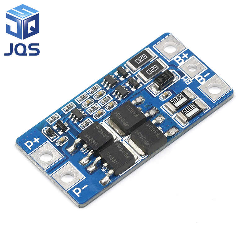 2S 10A 7.4V 18650 Lithium Battery Protection Board 8.4V Balanced Function/overcharged Protection