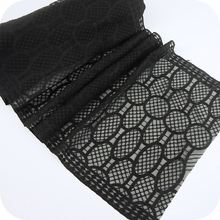 42cm Wide Black High Quality Rayon Tulle Lace Gauze Embroidery Skirt Pendulum Manual Diy Trims And Fringes Full Of Imagination