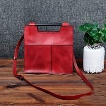 Genuine Leather Brand Square Handbags Women Tote Designer Vintage Female Messenger Bags Ladies Shoulder Bags Bolsa Feminina все цены