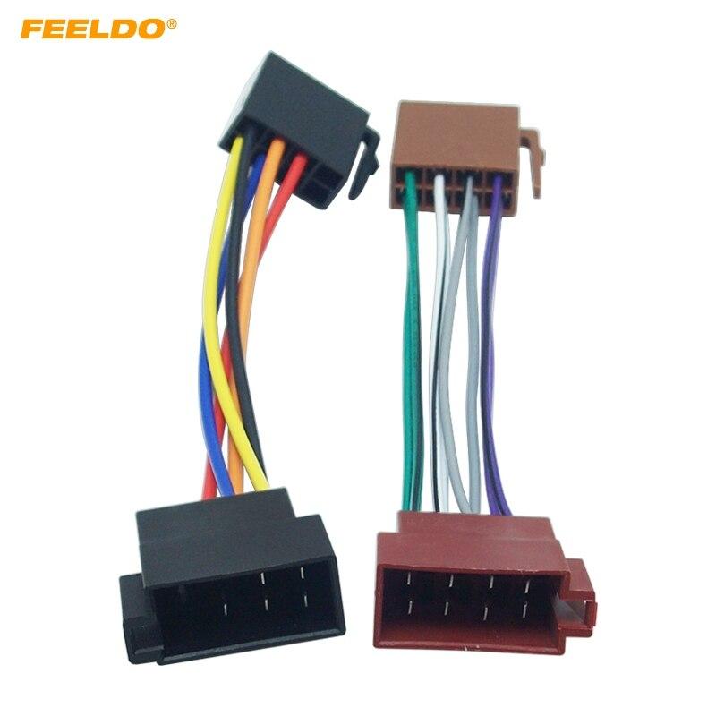 Feeldo 1pair Car Iso Radio Plug Adapter Wiring Harness For