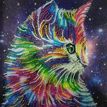 Diamond Painting Animal Cat Special Shape Embroidery Paint With Picture Of Rhinestones Home Wall Decoration