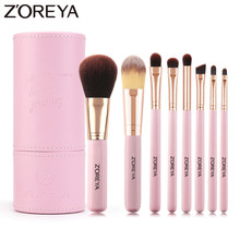 ZOREYA Brand 8Pcs High Quality Makeup Brush Sets Foundation Powder Lip Eye Brow Shadow Cosmetic Tools For Daily Face Make Up