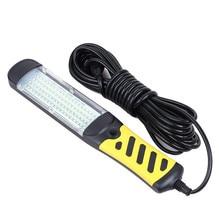 Luz LED portátil de trabajo de seguridad de emergencia, linterna con 80 cuentas LED, lámpara de trabajo manual para reparación de inspección de Coche magnético