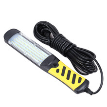 Portable LED Emergency Safety Work Light 80 LED Beads Flashlight Magnetic Car Inspection Repair Handheld Work Lamp