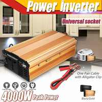 KROAK DC 12V To AC 220V Solar Power Inverter 4000W Modified Sine Wave Converter for car and truck