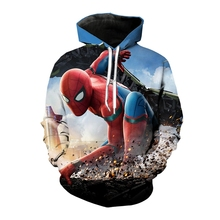 купить Jumeast New Design Spider-Man 3D Print Men/Women Hoodies Supper Hero Hooded Sweatshirt The Avengers Long Sleeves Sport Pullover по цене 1946.12 рублей