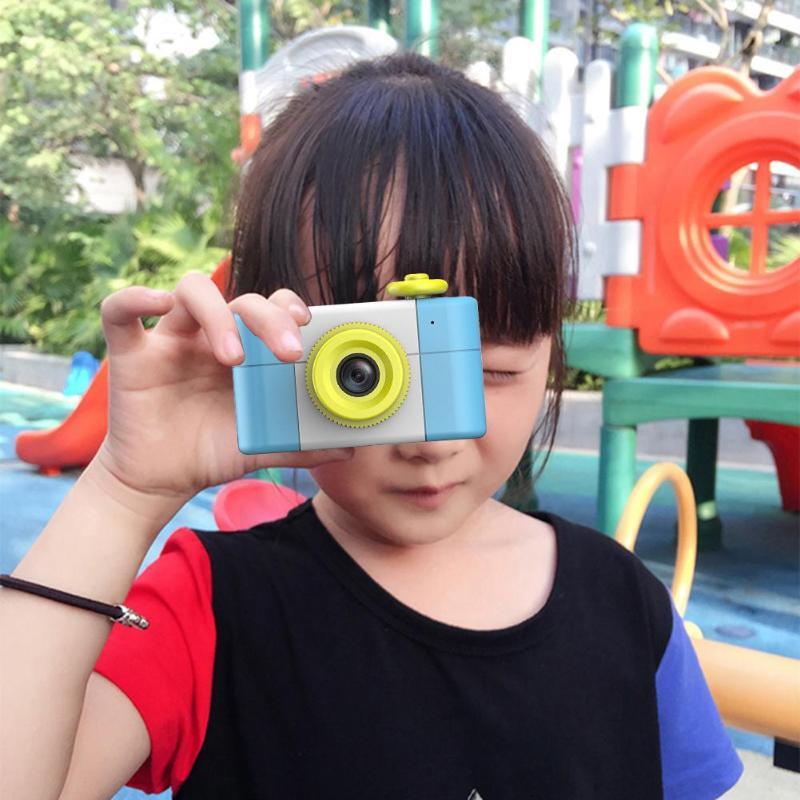 REMAX dessin animé mignon 1.5 pouces 2MP 1080 P enfants bébé Mini reflex numérique caméra photographie caméscope enregistreur vidéo livraison directe - 2