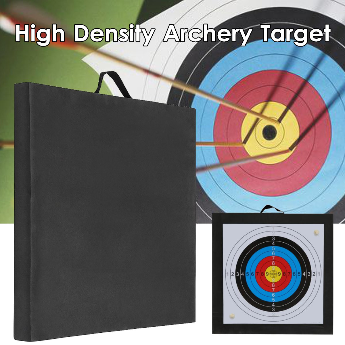 Black Archery Target High Density EVA Foam Shooting Practice Board RecurveCrossbow 50x50cm Outdoor Sport Hunting AccessoriesBlack Archery Target High Density EVA Foam Shooting Practice Board RecurveCrossbow 50x50cm Outdoor Sport Hunting Accessories