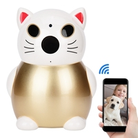 1080P HD Chinese Lucky Cat Wifi CCTV IP Security Camera IR Monitor Cam 2.8MM Million HD Lens 2 Million Pixels Indoor IP Camera