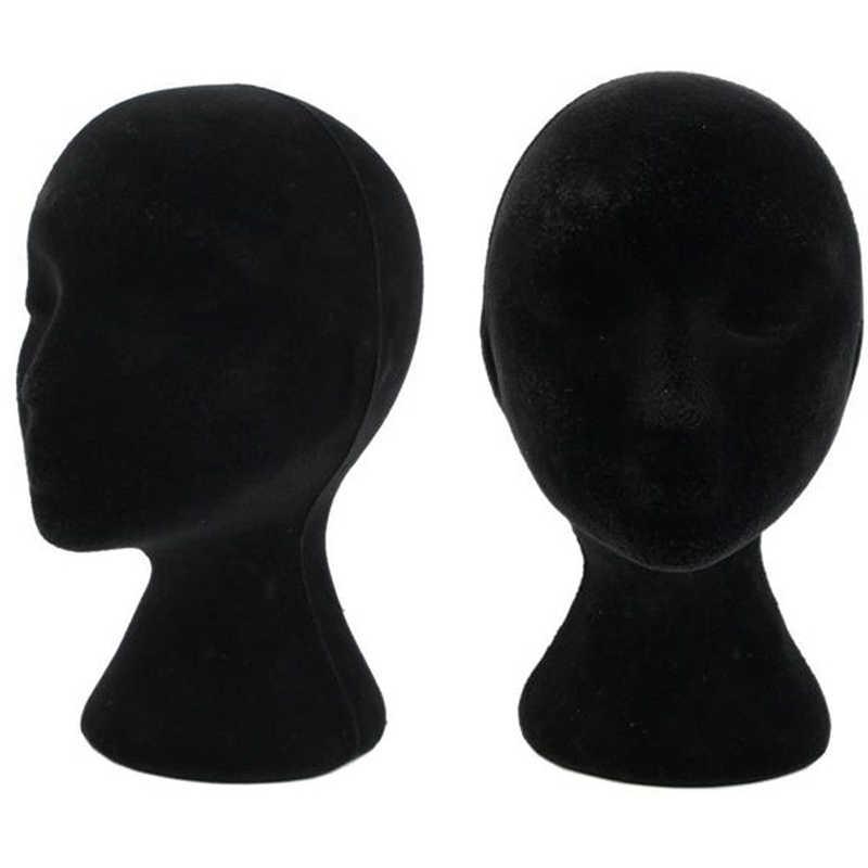 1 قطعة الإناث الذكور الستايروفوم المعرضة الباروكة نظارات قبعة عرض حامل شعبية رغوة رئيس نموذج رفوف أبيض أسود