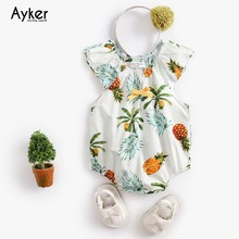 Newborn Baby Bodysuit Girl Clothes 2019 Summer Sleeveless Clothing One Piece Jumpsuit Cotton Outfits