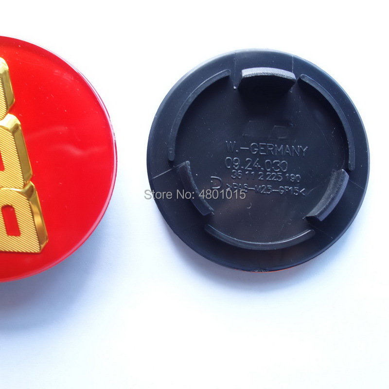 20x 70mm Acrylic Black Gold Car Wheel Rim Center Hub Caps Cover