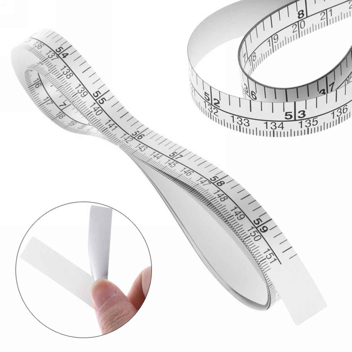 1 Pc 151cm Self Adhesive Metric Measure Tape Vinyl Ruler For Sewing Machine Sticker